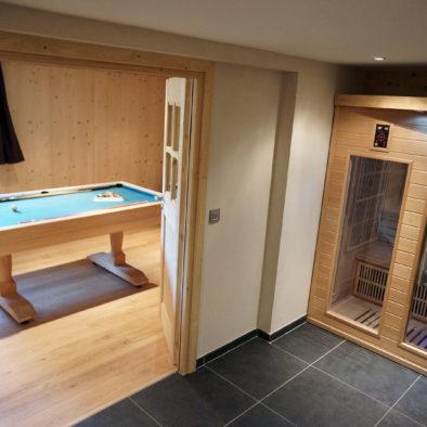 Ecureuil - billard et sauna infrarouge